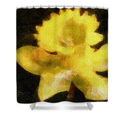 Shower Curtain featuring the painting Daffodil by Greg Collins