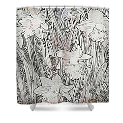 Shower Curtain featuring the photograph Daffodils by Judy Palkimas