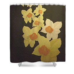 Shower Curtain featuring the digital art Daffodils by Terry Frederick