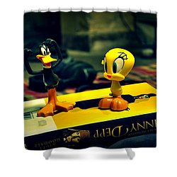 Daffy Tweety And Johnny Shower Curtain