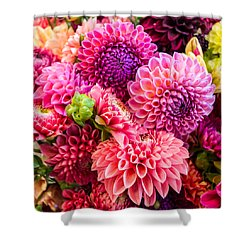 Dahlia Bouquet Number 2 Shower Curtain