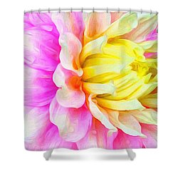 Dahlia Details Shower Curtain