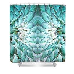 Dahlia Flower Art Shower Curtain by Sumit Mehndiratta