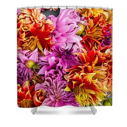 Dahlia Swirl Shower Curtain