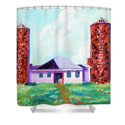 Dairy Barn Shower Curtain by Todd Bandy