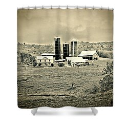 Dairy Farm Shower Curtain by Denise Romano