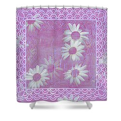 Shower Curtain featuring the photograph Daisies And Paper Lace by Sandra Foster