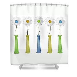 Daisies Shower Curtain by Diane Diederich