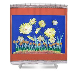 Shower Curtain featuring the painting Daisies by Ron Davidson