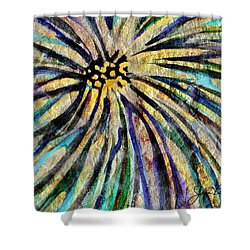 Shower Curtain featuring the painting Daisy Blue by Joan Reese