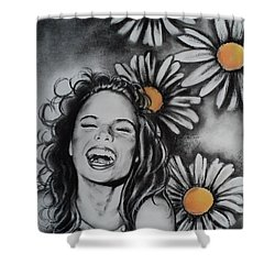 Daisy Shower Curtain by Carla Carson