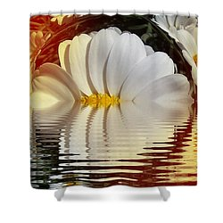 Daisy Fractal Shower Curtain by Nancy Pauling