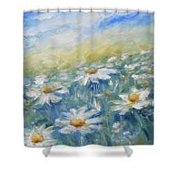 Daisies Shower Curtain by Jane  See