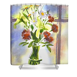 Daisy Supreme Shower Curtain by Kip DeVore