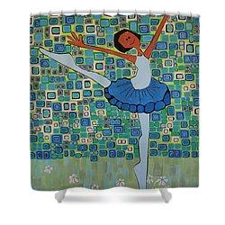 Daizies' Ballet Shower Curtain