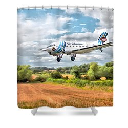 Dakota - Cleared To Land Shower Curtain