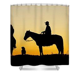 Dakota Morning Shower Curtain by Steven Bateson