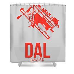 Dal Dallas Airport Poster 1 Shower Curtain
