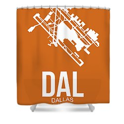 Dal Dallas Airport Poster 2 Shower Curtain by Naxart Studio