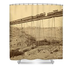 Dale Creek Bridge Union Pacific Shower Curtain by Getty Research Institute