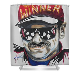 Dale Earnhardt Sr Shower Curtain by Chrisann Ellis