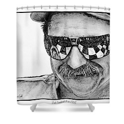 Dale Earnhardt Sr In 1995 Shower Curtain