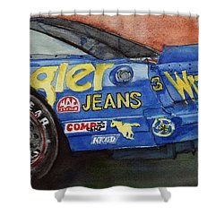 Dale Earnhardt's 1987 Chevrolet Monte Carlo Aerocoupe No. 3 Wrangler  Shower Curtain