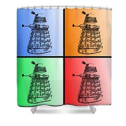 Dalek Pop Art Shower Curtain