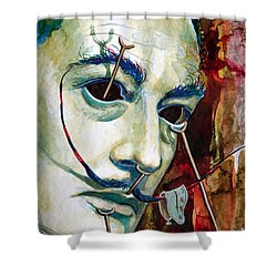 Shower Curtain featuring the painting Dali 2 by Laur Iduc