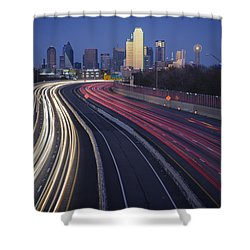 Dallas Afterglow Shower Curtain by Rick Berk