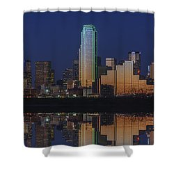 Dallas Aglow Shower Curtain by Rick Berk