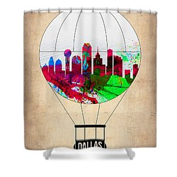 Dallas Air Balloon Shower Curtain by Naxart Studio