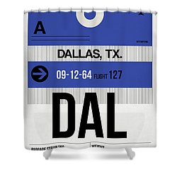 Dallas Airport Poster 1 Shower Curtain by Naxart Studio