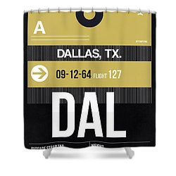 Dallas Airport Poster 2 Shower Curtain by Naxart Studio