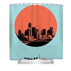 Dallas Circle Poster 1 Shower Curtain by Naxart Studio