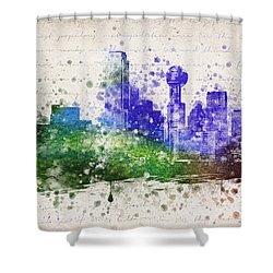 Dallas In Color Shower Curtain by Aged Pixel