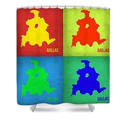 Dallas Pop Art Map 1 Shower Curtain by Naxart Studio