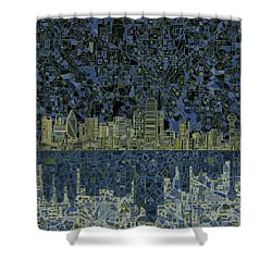 Dallas Skyline Abstract 2 Shower Curtain