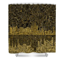 Dallas Skyline Abstract 3 Shower Curtain