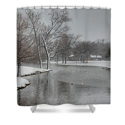 Dallas Snow Day Shower Curtain