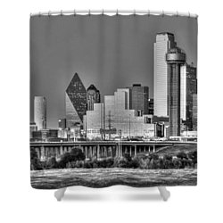 Dallas The New Gotham City  Shower Curtain by Jonathan Davison