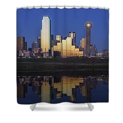 Dallas Twilight Shower Curtain by Rick Berk