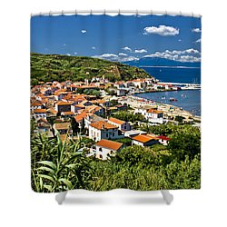 Dalmatian Island Of Susak Village And Harbor Shower Curtain