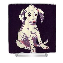 Dalmatian Puppy Shower Curtain by George Adamson