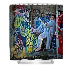 Dalyn At The Graffiti Underground Shower Curtain