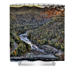 Shower Curtain featuring the photograph Dam In The Forest by Jonny D