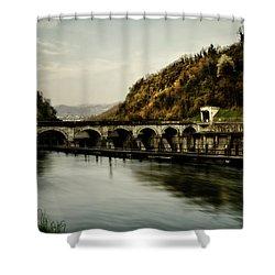 Dam On Adda River Shower Curtain