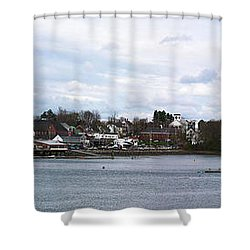 Damariscotta  Shower Curtain by Guy Whiteley