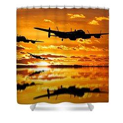 Dambusters Avro Lancaster Bombers Shower Curtain