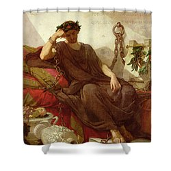 Damocles Shower Curtain by Thomas Couture